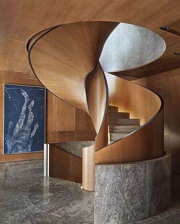 Бетонные монолитные лестницы - пример выполнения